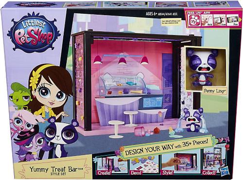 Hasbro Littlest Pet Shop Style Set Yummy Treat Bar Playse...