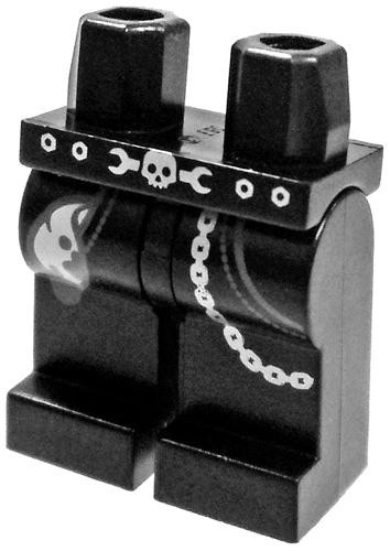 Lego Black with Pockets, Rag, Chain & Skull Belt Pattern ...