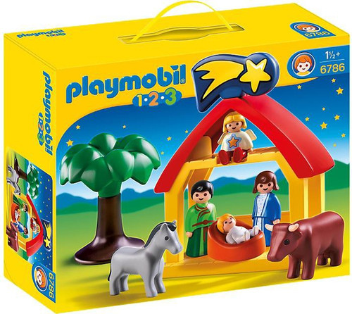 Playmobil 1.2.3 Christmas Manger Set #6786