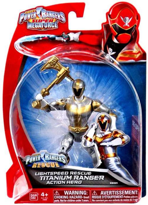 Bandai Power Rangers Super Megaforce Titanium Ranger Acti...