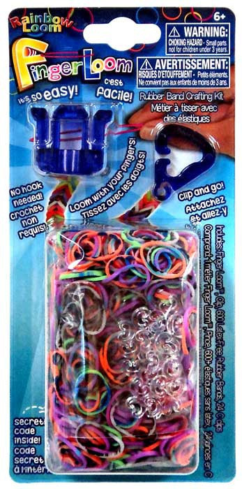Rainbow Loom Finger Loom Rubber Band Crafting Kit Purple