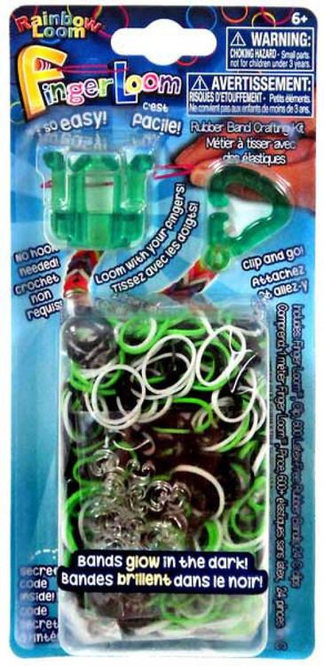 Rainbow Loom Finger Loom Rubber Band Crafting Kit [Green]