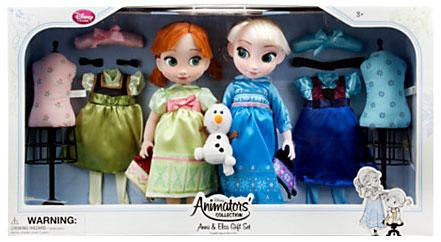 Disney Frozen Animators Collection Anna Elsa 16 Doll 2 ...