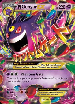 Pokemon X & Y Phantom Forces Ultra Rare Holo Mega Gengar-...