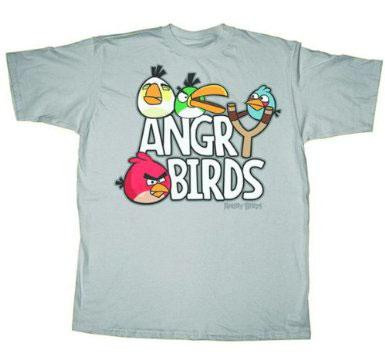 Angry Birds Sling Shot T-Shirt [Adult Large]