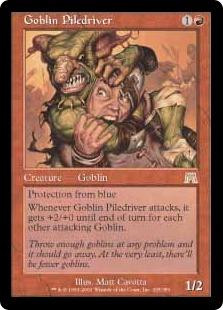 Wizards Of The Coast MtG Onslaught Rare Goblin Piledriver...