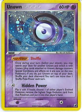 Pokemon EX Unseen Forces Rare Unown #118 [D]