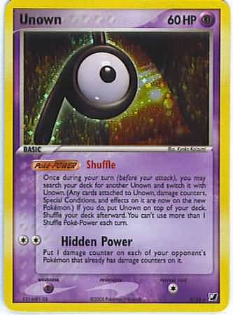 Pokemon EX Unseen Forces Rare Unown #118 [P]