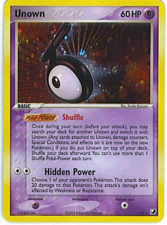 Pokemon EX Unseen Forces Rare Unown #118 [T]