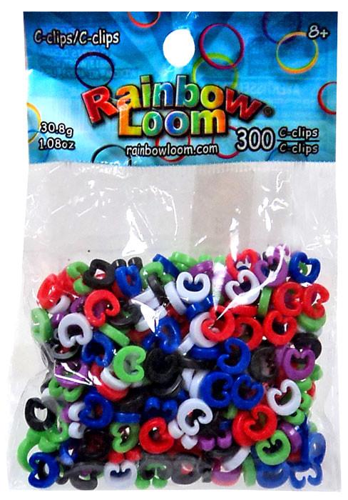 Rainbow Loom Multicolored C-Clips [300 Count]