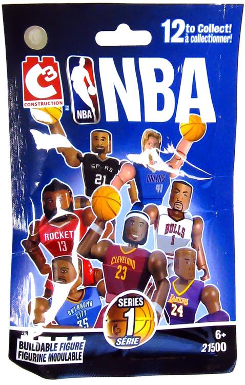 NBA C3 Construction Series 1 Buildable Figure Mystery Pack Bridge Direct - ToyWiz