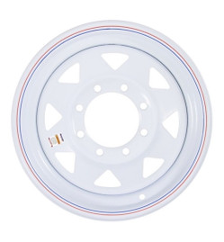 16 Inch White Spoke Trailer Wheel- 8 Lug