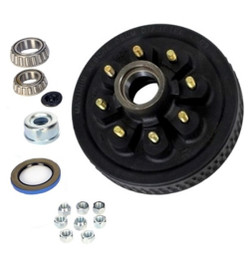 "6-7k Hub and Drum Assembly -  8 lug ( 25580 ) - 9/16"" Studs"