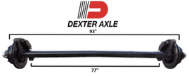 Dexter 7k Trailer Axle - 7000 lb Hydraulic Disc Brake 8 lug 93/77