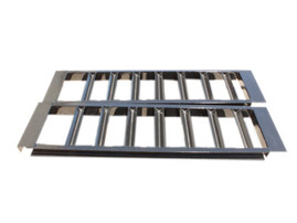 "Pair of 4"" Channel Heavy Duty Steel Loading Ramps (10,000 lb Capacity)"