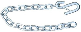 Silver Trailer Safety Chain -  5/16 x 30 - Forged (3.8k Capacity)