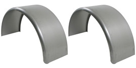 Set of 2 Single Axle 9x32 Smooth Steel Rolled Fenders