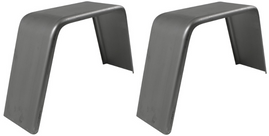 Set of 2 Single Axle 10x36 Smooth Steel Jeep Style Fenders