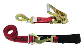 Snappin Turtle 9' Ratchet Strap Assembly W/Adjustable Axle Loop - (10,000 Lb Capacity)
