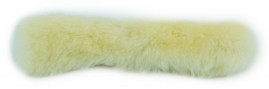 """Snappin Turtle 8"""" Sheep Skin Cover For 1"""" Wide Webbed Ratchet Strap"""