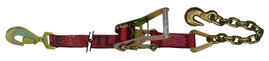 Snappin Turtle 9' Ratchet Strap Assembly W/Twisted Snap Hook & Chain - (10,000 Lb Capacity)