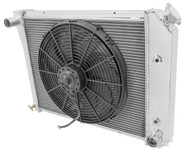 1968-1987 20 Inch Core GM 3 Row Champion Alum Radiator Fan Combo