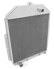 1942-1952 Ford Truck with Ford Conversion 3 Row Core Alum Radiator