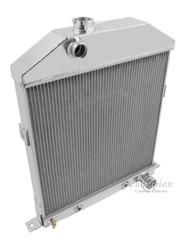 1942 43 44 45 46 47 48 Ford / Mercury Cpe Chevy Config 2 Row Core Alum Radiator