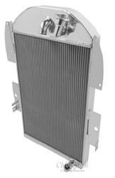 1934 35 36 Chevy Pickup V6 Engine with No Trans 3 Row Core Alum Radiator