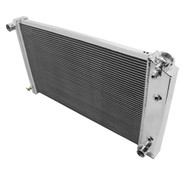 1968 1969 1970 1971 1972 1973 Chevy Chevelle 3 Row Aluminum Radiator & Dual Fans