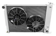 1967 1968 1969 Pontiac Firebird with BB Aluminum 4 Row Radiator and Electric Fan