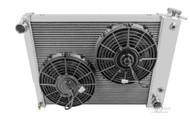 1967 1968 1969 Pontiac Firebird 4 Row Champion Cooling Radiator + Electric Fan