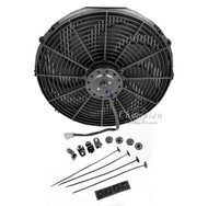 12 Inch 1400cfm Electric Fan with Spiral Blades and Core Mounting Kit