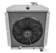 "1947-1954 Chevy C/K Series Truck 4 Row Aluminum Radiator + 16"" Fan"