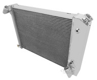 1966 1967 1968 Chevrolet Corvette 3 Row Aluminum Radiator