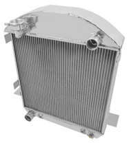 1921 1922 FORD Model T PRO Series 3 Row Aluminum Radiator + 16 Inch Electric Fan