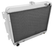 1970-1971 Dodge Sapparo 3 Row Aluminum Radiator for Big Block