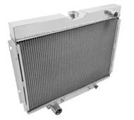 "1967 1968 1969 Ford Fairlane 4 Row Aluminum Radiator 24"" wide core for Big Block"