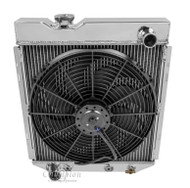 1960 - 1965 Ford FALCON V8 Conversion (Drivers Side Outlet) 4 Row Radiator + Fan