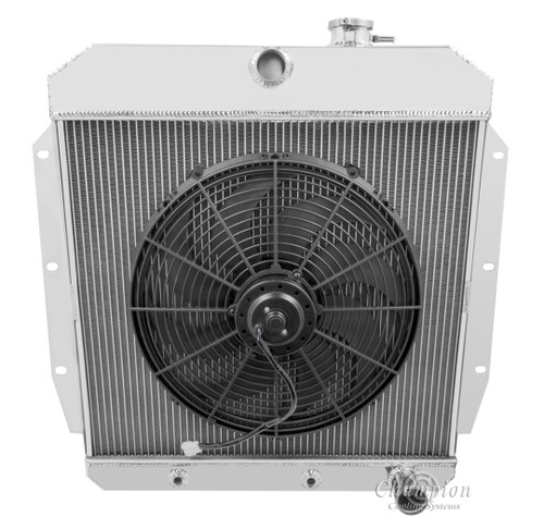 1955 1956 1957 1958 1959 gmc pickup truck aluminum radiator 2500cfm 16 quot  fan performance cooling