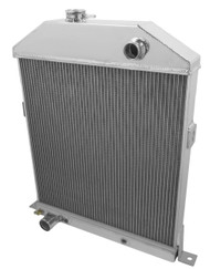 1942 1943 1944 1945 FORD COUPE w/Chevy ENG 3 Row Aluminum Radiator