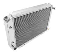 """1980-1986 Mercury Capri Aluminum Radiator + 12"""" Fans"""