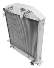 "1933 Ford 3"" Chopped Chevy/Mopar ENG Aluminum Radiator"