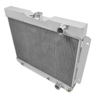 1962 1963 1964 1965 Chevy Nova 3 Row Aluminum Radiator
