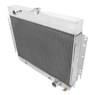 1963-1968 Chevy Bel Air 4 Row Aluminum Radiator + Fans