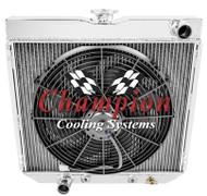 1963-1969 Ford Fairlane 3 Row Aluminum Radiator + Fan