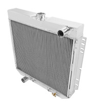 1964-1968 Ford Galaxie 4 Row Aluminum Radiator Combo Pk