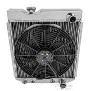 1960 -1965 Ford Econoline 3 Row Aluminum Radiator + Fan