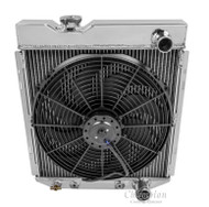 1960 - 1965 Ford Falcon 3 Row Aluminum Radiator + Fan