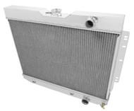 1964 1965 1966 Chevy Chevelle 3 Row Aluminum Radiator